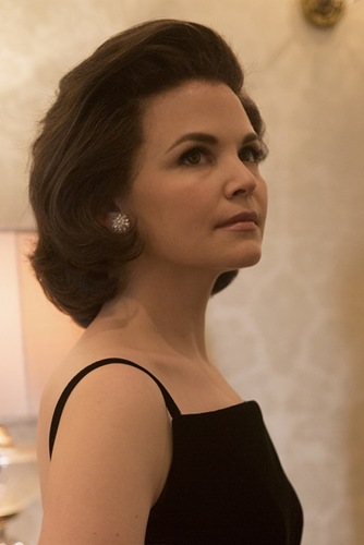 First look of Ginnifer Goodwin as First Lady Jacqueline Kennedy on the set of National Geographic Channel's KILLING KENNEDY, which started production this week in Richmond, Va. Nat Geo will air the television event this November.  photo credit:  National Geographic Channels/Kent Eanes
