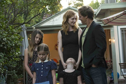 MARRIED - Pictured: (center, right) Matt Faxon as Russ, Judy Greer as Lina -- CR. Prashant Gupta/FX